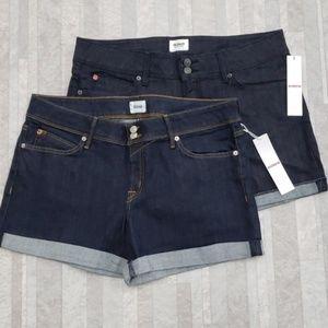 Hudson denim cuffed Jean shorts NWT Blue